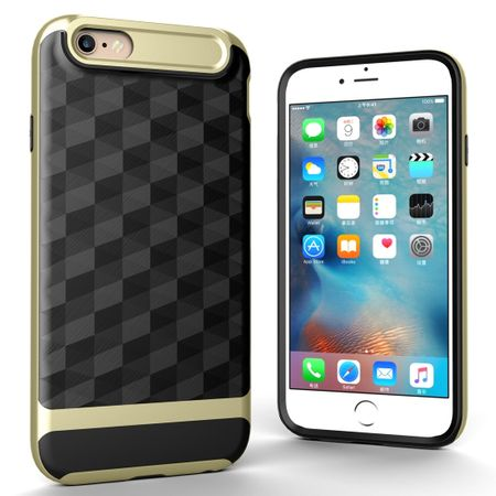 Hülle für Apple iPhone 6 / 6s Backcover Case Handy Schutzhülle - Cover 3D Prisma Design Gold