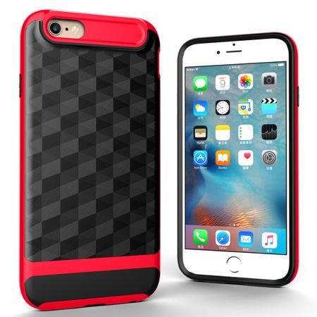 Hülle für Apple iPhone 6 / 6s Backcover Case Handy Schutzhülle - Cover 3D Prisma Design Rot