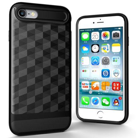 Hülle für Apple iPhone 7 Backcover Case Handy Schutzhülle - Cover 3D Prisma Design Schwarz