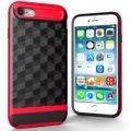 Hülle für Apple iPhone 8 Backcover Case Handy Schutzhülle - Cover 3D Prisma Design Rot 001
