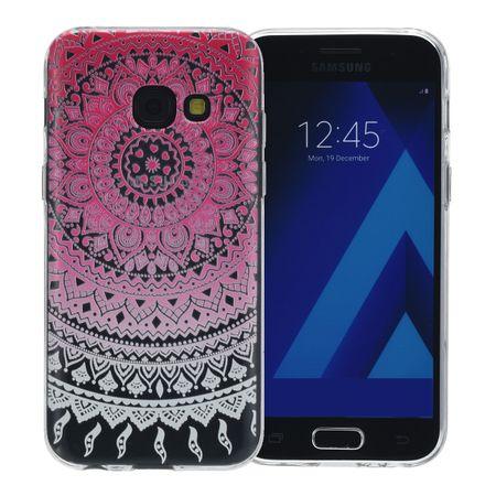 Henna Cover für Samsung Galaxy A8 2018 Case Schutz Hülle Silikon Sonne Pink