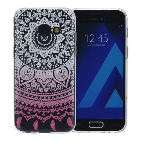 Henna Cover für Samsung Galaxy A8 2018 Case Schutz Hülle Silikon Sonne Weiß