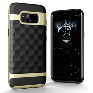 Hülle für Samsung Galaxy S8 Plus Backcover Case Handy Schutzhülle - Cover 3D Prisma Design Gold