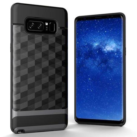 Hülle für Samsung Galaxy Note 8 Backcover Case Handy Schutzhülle - Cover 3D Prisma Design Grau