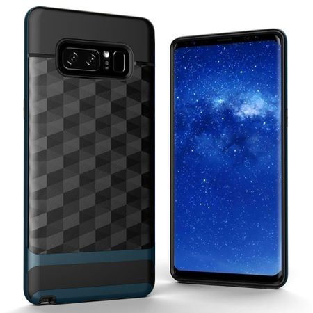 Hülle für Samsung Galaxy Note 8 Backcover Case Handy Schutzhülle - Cover 3D Prisma Design Navy Blau