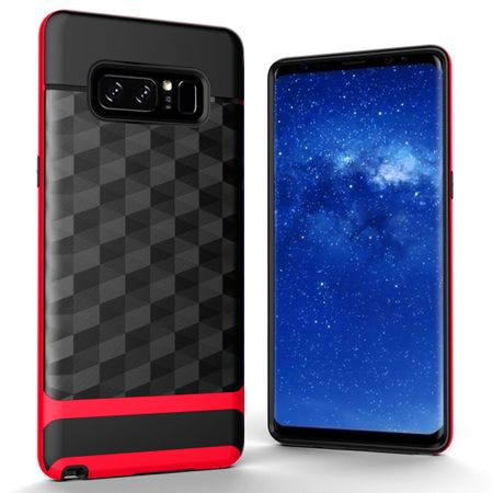 Hülle für Samsung Galaxy Note 8 Backcover Case Handy Schutzhülle - Cover 3D Prisma Design Rot