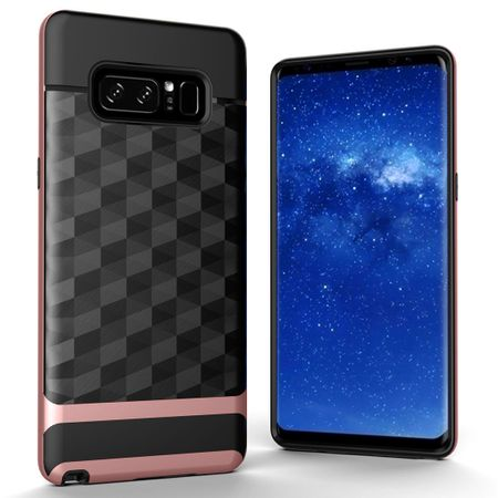 Hülle für Samsung Galaxy Note 8 Backcover Case Handy Schutzhülle - Cover 3D Prisma Design Rose Gold