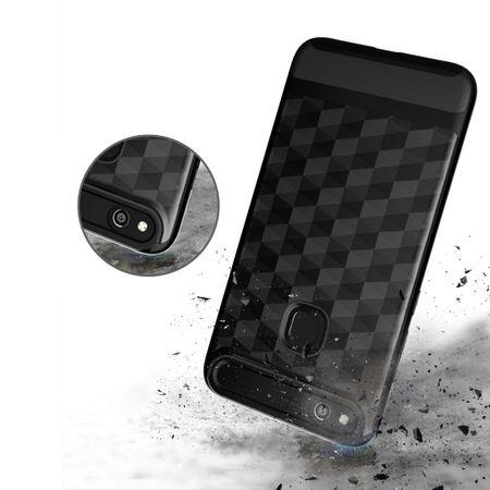 Hülle für Huawei P10 Lite Backcover Case Handy Schutzhülle - Cover 3D Prisma Design Navy Blau – Bild 4