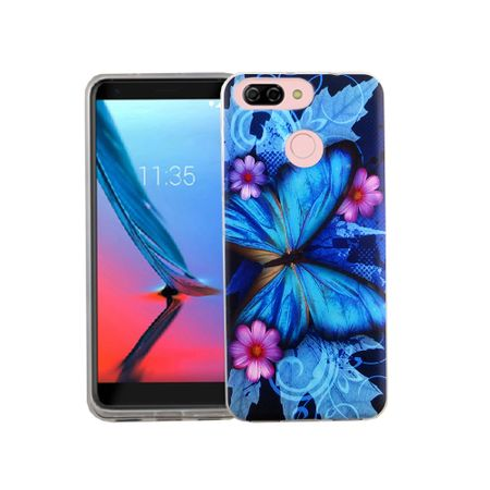 Handy Hülle für ZTE Blade V9 Vita Blauer Schmetterling Smartphone Cover Bumper Schale Etuis