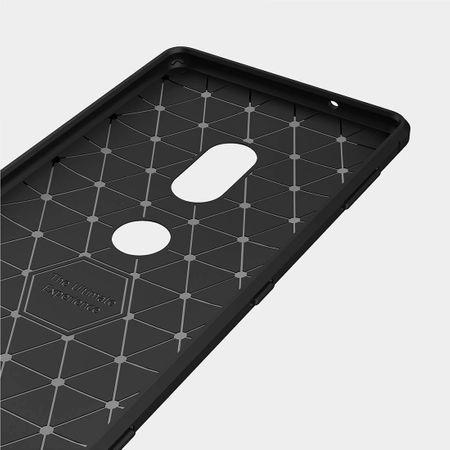 Sony Xperia XZ2 TPU Case Carbon Fiber Optik Brushed Schutz Hülle Grau – Bild 7