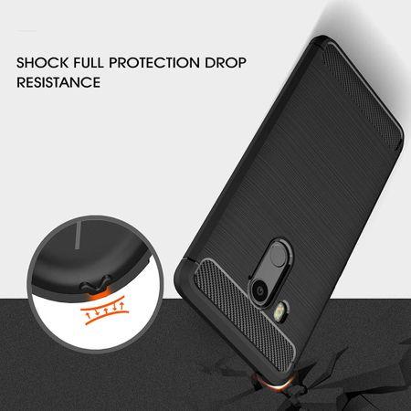 HTC U11 Eyes TPU Case Carbon Fiber Optik Brushed Schutz Hülle Schwarz – Bild 6