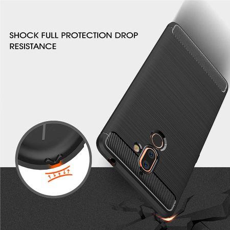 Nokia 7 Plus TPU Case Carbon Fiber Optik Brushed Schutz Hülle Grau – Bild 6