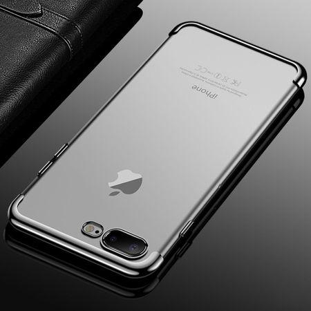 Handy Hülle Schutz Case für Apple iPhone 7 / 8 Plus Durchsichtig Transparent Silber