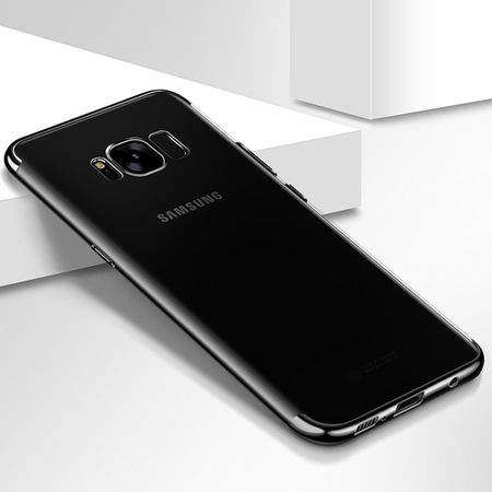 Handy Hülle Schutz Case für Samsung Galaxy S6 Durchsichtig Transparent Schwarz
