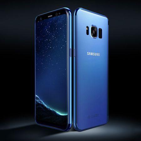 Handy Hülle Schutz Case für Samsung Galaxy S6 Edge Durchsichtig Transparent Blau
