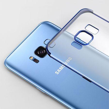 Handy Hülle Schutz Case für Samsung Galaxy A8 2018 Durchsichtig Transparent Rot – Bild 4