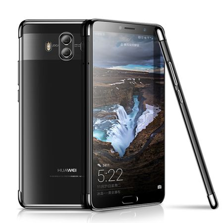 Handy Hülle Schutz Case für Huawei Mate 10 Pro Durchsichtig Transparent Schwarz
