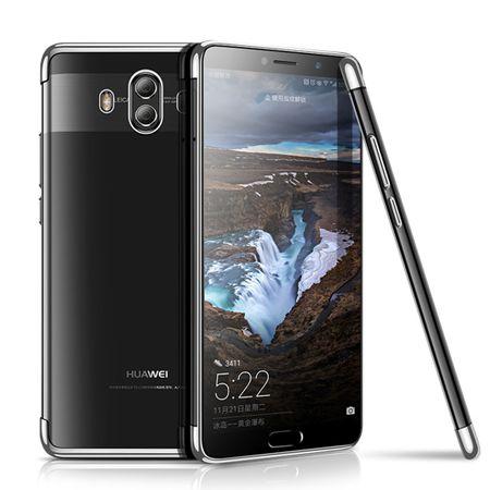 Handy Hülle Schutz Case für Huawei Mate 10 Durchsichtig Transparent Silber – Bild 2