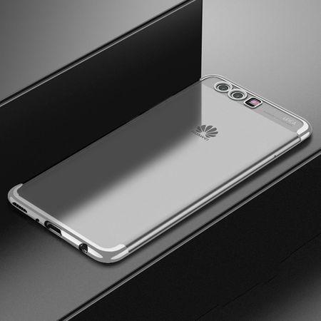 Handy Hülle Schutz Case für Huawei P10 Durchsichtig Transparent Silber