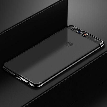 Handy Hülle Schutz Case für Huawei P20 Pro Durchsichtig Transparent Schwarz – Bild 1