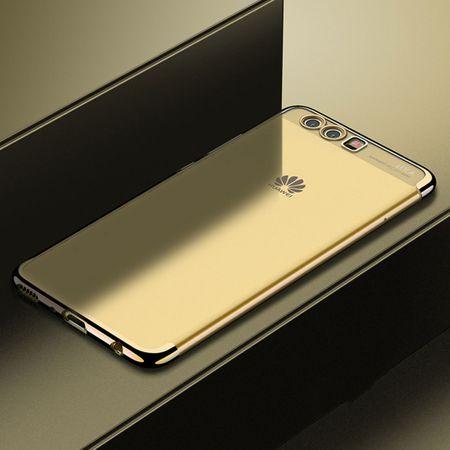 Handy Hülle Schutz Case für Huawei P20 Lite Durchsichtig Transparent Gold