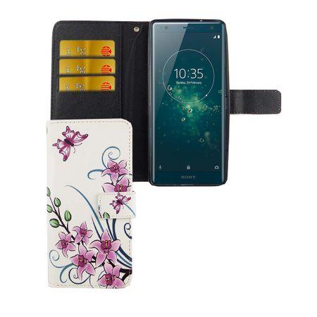 Handyhülle Tasche für Handy Sony Xperia XZ2 Lotusblume – Bild 4