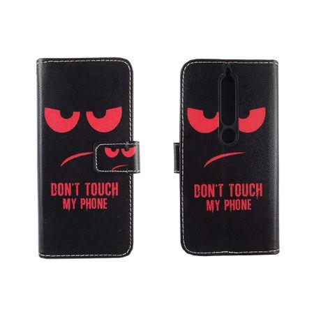 Handyhülle Tasche für Handy Nokia 6 2018 Dont Touch My Phone Rot – Bild 3