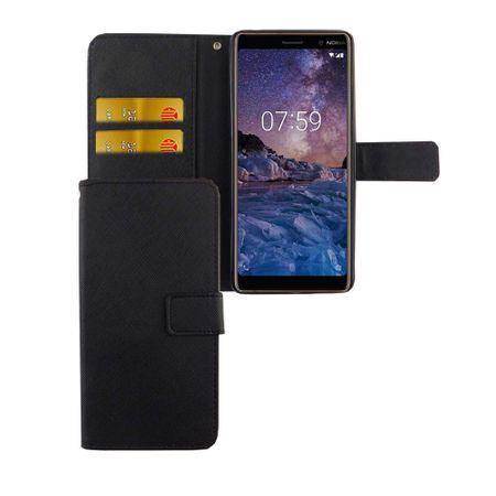 Handyhülle Tasche für Handy Nokia 7 Plus Schwarz – Bild 1