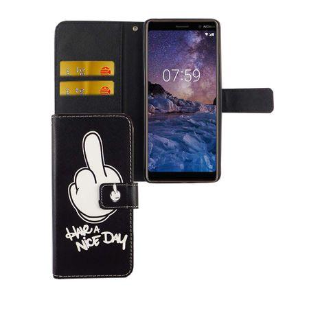 Handyhülle Tasche für Handy Nokia 7 Plus Have A Nice Day Schwarz – Bild 4