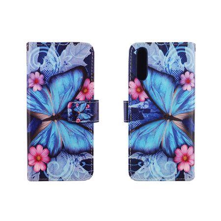 Handyhülle Tasche für Handy Huawei P20 Blauer Schmetterling – Bild 3