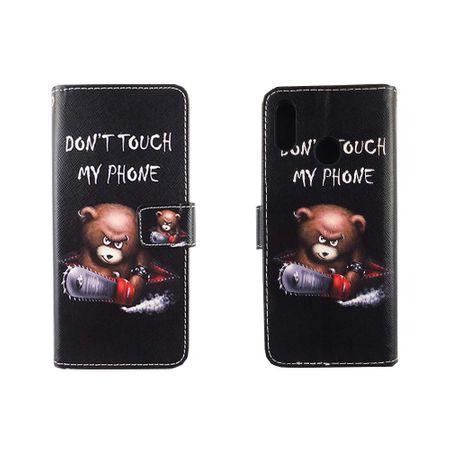 Handyhülle Tasche für Handy Huawei P20 Lite Schriftzug Bär mit Kettensäge – Bild 6
