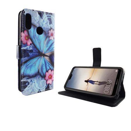 Handyhülle Tasche für Handy Huawei P20 Lite Blauer Schmetterling – Bild 5
