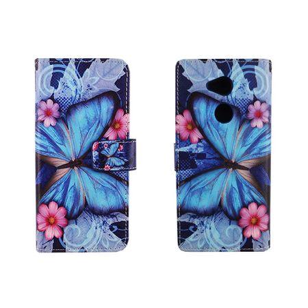 Handyhülle Tasche für Handy Sony Xperia XA2 Ultra Blauer Schmetterling – Bild 3