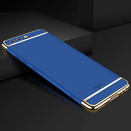Handy Hülle Schutz Case für Huawei P20 Pro Bumper 3 in 1 Cover Chrom Etui Blau – Bild 3