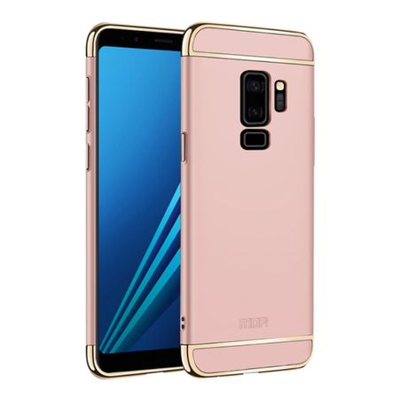 Handy Hülle Schutz Case für Samsung Galaxy S9 Plus Bumper 3 in 1 Cover Chrom Rose Gold – Bild 1