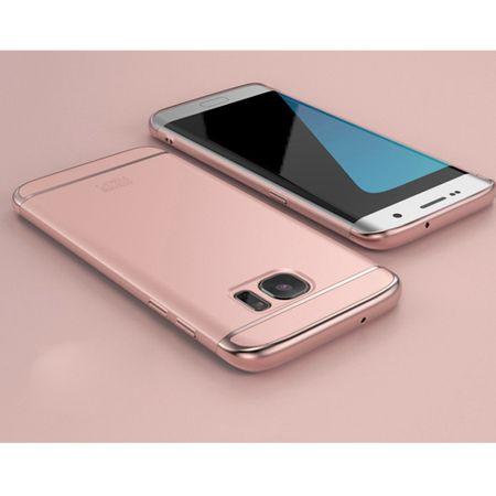 Handy Hülle Schutz Case für Samsung Galaxy A8 2018 Bumper 3 in 1 Cover Chrom Rose Gold – Bild 2