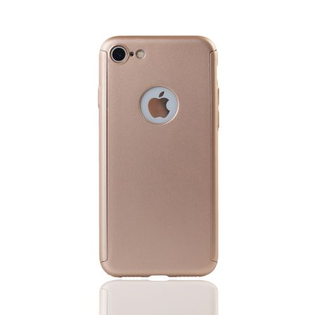 Apple iPhone 8 Handy-Hülle Schutz-Case Full-Cover Panzer Schutz Glas Gold – Bild 2