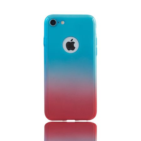 Apple iPhone 8 Handy-Hülle Schutz-Case Full-Cover Panzer Schutz Glas Blau / Rot – Bild 2