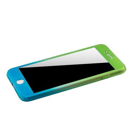 Apple iPhone 8 Plus Handy-Hülle Schutz-Case Cover Panzer Schutz Glas Grün / Blau – Bild 4