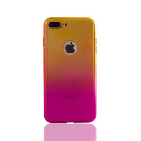 Apple iPhone 8 Plus Handy-Hülle Schutz-Case Cover Panzer Schutz Glas Gelb / Pink – Bild 2