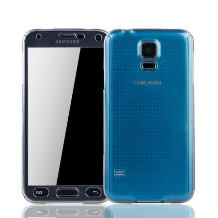 Samsung Galaxy S5 / S5 Neo Handy-Hülle Schutzcase Panzer Schutz Glas Transparent