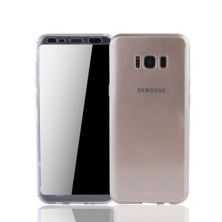 Samsung Galaxy S8 Handyhülle Schutzcase Full Cover 360 Displayschutz Folie Klar Matt