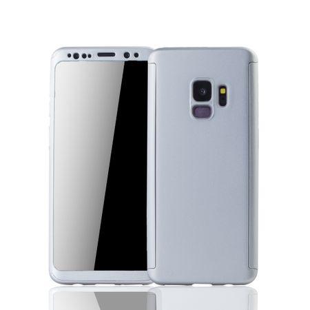 Samsung Galaxy S9 Handyhülle Schutzcase Full Cover 360 Displayschutz Folie Silber