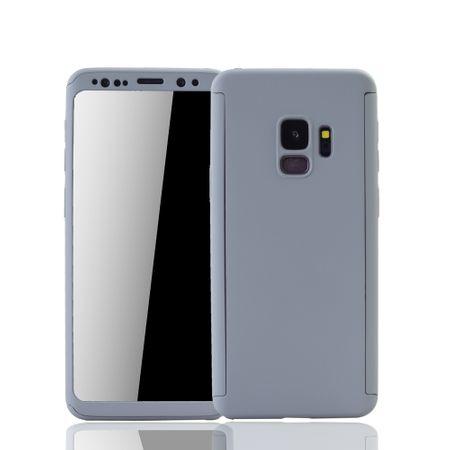 Samsung Galaxy S9 Handyhülle Schutzcase Full Cover 360 Displayschutz Folie Grau