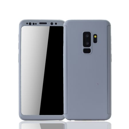 Samsung Galaxy S9 Plus Handyhülle Schutzcase Full Cover 360 Displayschutz Folie Grau