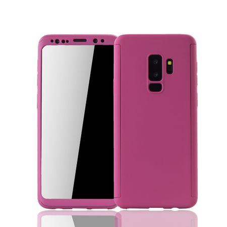 Samsung Galaxy S9 Plus Handyhülle Schutzcase Full Cover 360 Displayschutz Folie Pink