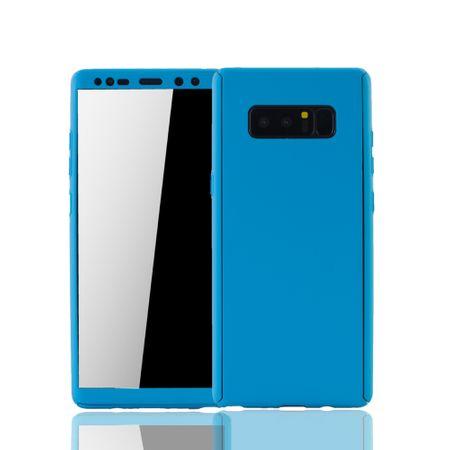 Samsung Galaxy Note 8 Handyhülle Schutzcase Full Cover 360 Displayschutz Folie Hellblau