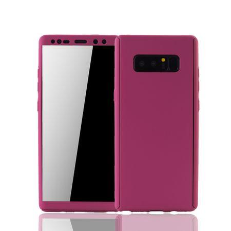 Samsung Galaxy Note 8 Handyhülle Schutzcase Full Cover 360 Displayschutz Folie Pink
