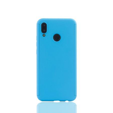 Huawei P20 Lite Handy-Hülle Schutz-Case Full-Cover Panzer Schutz Glas Hellblau – Bild 2