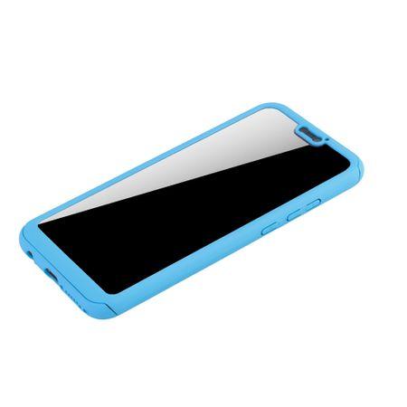 Huawei P20 Lite Handy-Hülle Schutz-Case Full-Cover Panzer Schutz Glas Hellblau – Bild 4